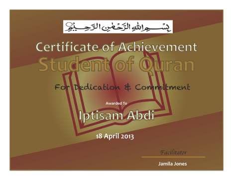 Certificate Iptisam